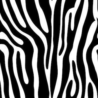 Bezszwowe dachówka zwierzę wydruku zebra, ilustracji wektorowych