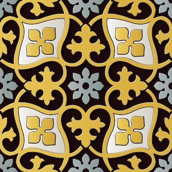 Bezszwowe dekoracje kwiatowe retro wzór