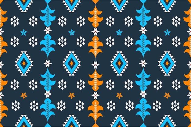 Bezszwowe etniczne etniczne azjatyckie i tradycji wzór geometryczny wzór tekstury i bachground. dekoracja z jedwabiu i tkaniny na dywan, odzież, święta bożego narodzenia.