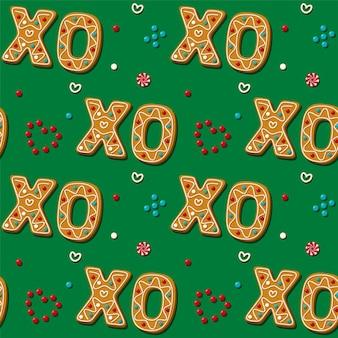 Bezszwowe fraza piernik xo cookie.