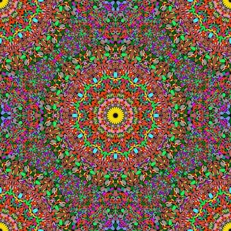 Bezszwowe geometryczny wzór orientalny mandali kwiat ornament