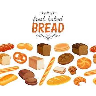 Bezszwowe granica z chlebem