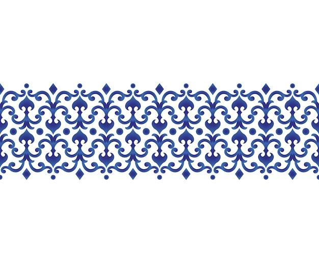 Bezszwowe granice ceramiczny projekt linii japonia i chiński styl