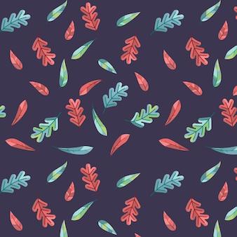 Bezszwowe jesienne liście wzór