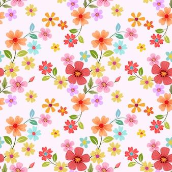 Bezszwowe kolorowe kwiaty