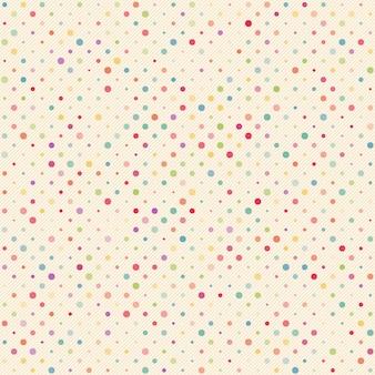 Bezszwowe kropki z ukośne linie wzór tła. kolorowe kropki.
