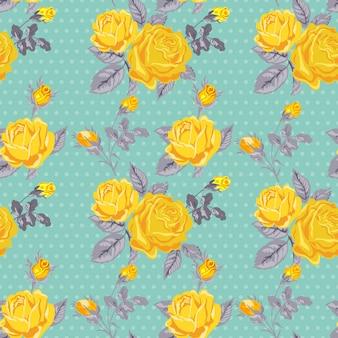 Bezszwowe kwiatowy tło shabby chic