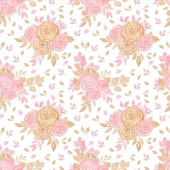 Bezszwowe kwiatowy wzór z pięknymi kwiatami