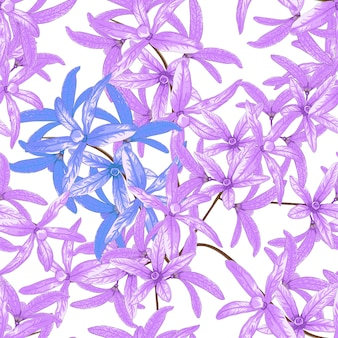 Bezszwowe kwiaty petrea volubilis kwiaty