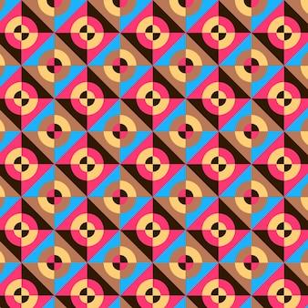 Bezszwowe okrągły geometryczny groovy wzór tekstury