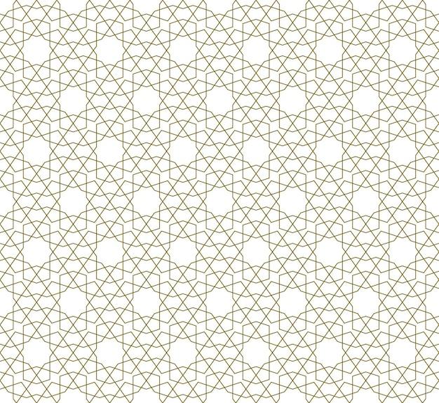 Bezszwowe ornament geometryczny oparty na tradycyjnej sztuce islamskiej. linie koloru brązowego. świetny projekt dla tkanin, tekstyliów, okładek, papieru do pakowania, tła. cienkie linie.