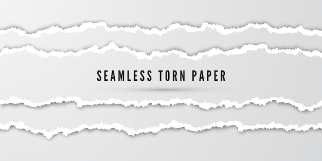 Bezszwowe paski rozdarty papier