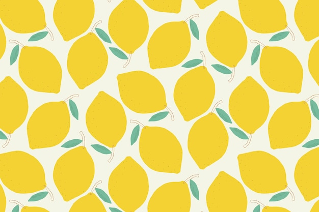 Bezszwowe pastelowe tło wzór cytryny