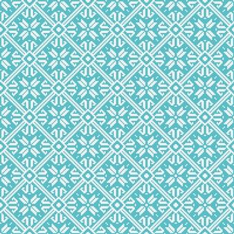 Bezszwowe płatki śniegu geometryczny wzór, motyw zimowy