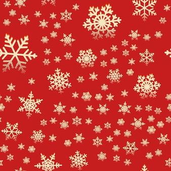 Bezszwowe płatki śniegu retro wzór na zimowe święta bożego narodzenia