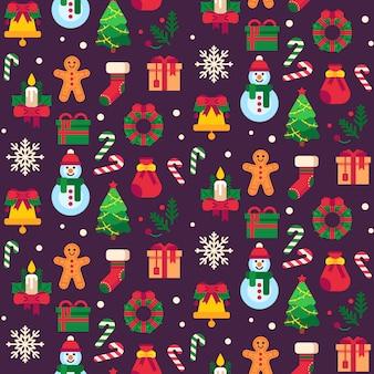 Bezszwowe przedmioty świąteczne