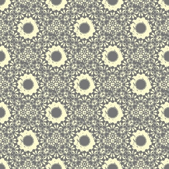 Bezszwowe ręcznie rysowane elementy vintage wzór mandali w orienta