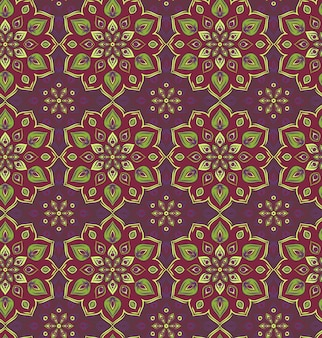 Bezszwowe ręcznie rysowane wzór mandali. vintage elementy dekoracyjne
