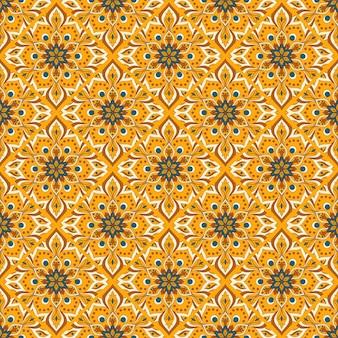 Bezszwowe ręcznie rysowane wzór mandali.