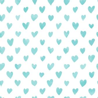 Bezszwowe ręcznie rysowane wzór serca