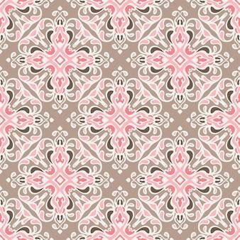 Bezszwowe streszczenie kafelki wektor wzór. geometryczny klasyczny ornament adamaszkowy