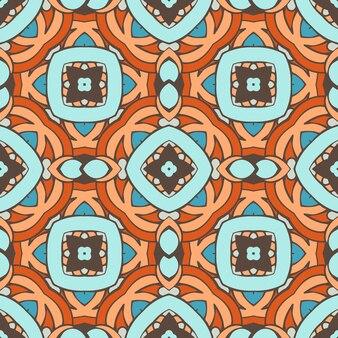 Bezszwowe streszczenie kafelki wektor wzór. geometryczny klasyczny wzór tkaniny i tapety