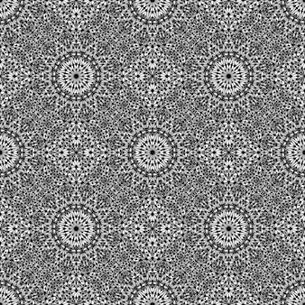 Bezszwowe streszczenie ogród mandali mozaiki wzór tła sztuki