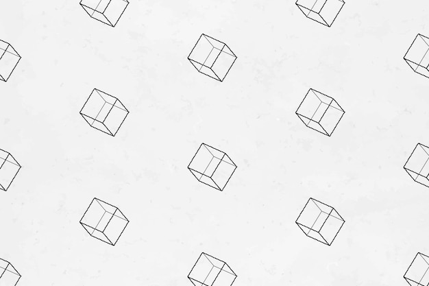 Bezszwowe tło 3d geometryczne sześcienne wzorzyste