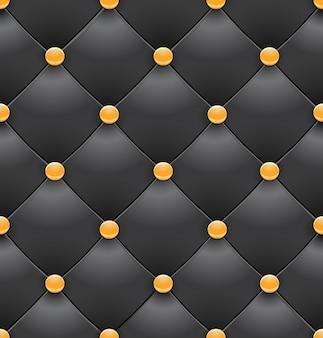 Bezszwowe tło czarne tapicerki królewskie