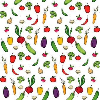 Bezszwowe tło kuchni warzyw