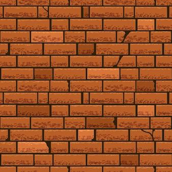 Bezszwowe tło ściana z czerwonej cegły.