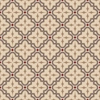 Bezszwowe tło, vintage brązowy krzyż okrągły wzór geometrii kwadratu.