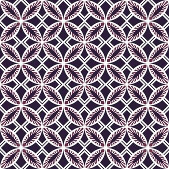 Bezszwowe tło, vintage, fioletowy okrągły kwadratowy wzór geometrii krzyża.