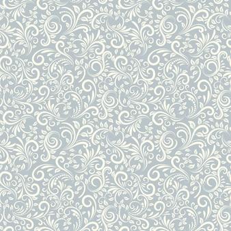 Bezszwowe tło w kolorze jasnoniebieskim w stylu damaszku