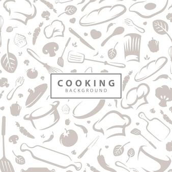 Bezszwowe tło wektor wzór gotowania