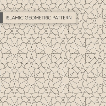 Bezszwowe tło wzór geometryczny islamu