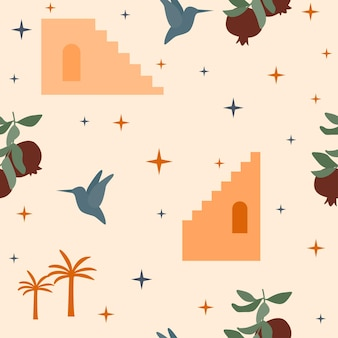 Bezszwowe tło wzór. słoneczny letni wzór do projektowania papieru do pakowania, tapety, tkaniny, dziecka zamyka tekstylia itp.