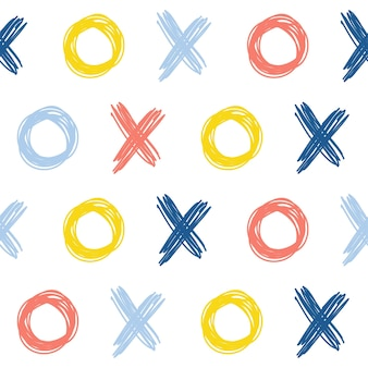 Bezszwowe tło wzór tkaniny tekstylnej dziecko doodle próbka tkaniny wydruku