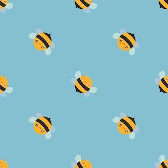 Bezszwowe tło wzór z słodkie pszczoły