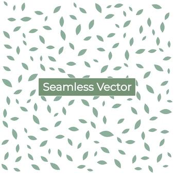 Bezszwowe tło wzór zielonego liścia wektor premium