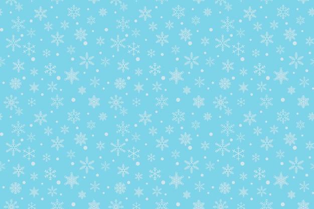Bezszwowe tło z białymi płatkami śniegu