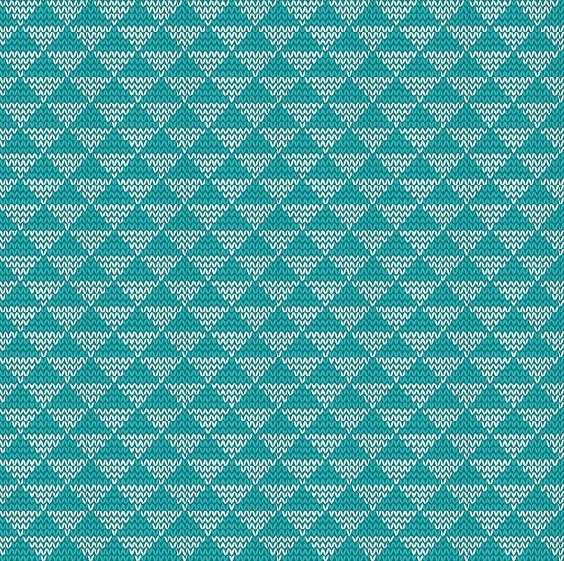 Bezszwowe tło z dzianiny trójkąt, ilustracji wektorowych