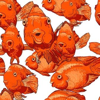 Bezszwowe tło z ryb
