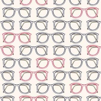 Bezszwowe tło z szare i różowe ramki okularów