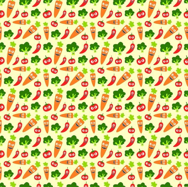 Bezszwowe warzywo wzór