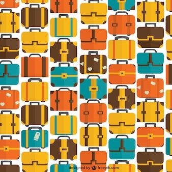 Bezszwowe wzór torby i walizki podróżujących