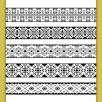 Bezszwowe wzory etniczne koronki