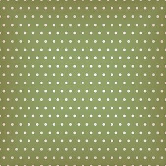 Bezszwowe zielony wzór z kropkami