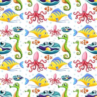 Bezszwowe zwierzęta morskie i bąbelki
