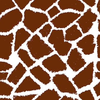 Bezszwowe żyrafa futro wektor wzór.